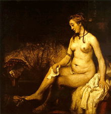 Hendrickje Stoffels as Bathsheba at Her Bath by Rembrandt