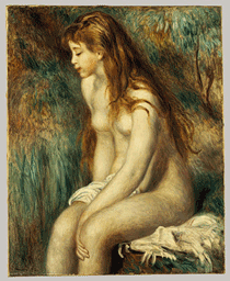 Young Girl Bathing by Renoir