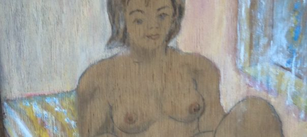 Woman on Bed Detail